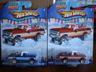 Hot Wheels 2009 Holiday Rods Both Texas Drive Em Blue Red VHTF