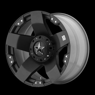 ROCKSTAR MATTE BLACK WITH 38X15 50X20 TOYO OPEN COUNTRY MT WHEELS RIMS