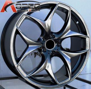 Staggered Y Spoke Wheels 5x120 Rims Fits BMW x5 x6 2008 Present