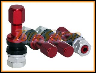 Pcs Work Wheels Red Forged Aluminum Valve Stems Caps Emotion CR Kai