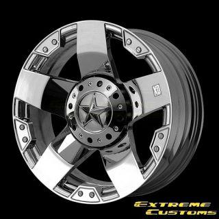 XD Series XD775 Rockstar Chrome 5 6 8 Lug Wheels Rims Free Lugs