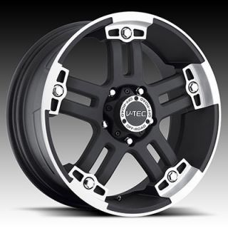 17 Vision Warlord Black Wheels Rims 5x127 Jeep Wrangler JK Set of 5