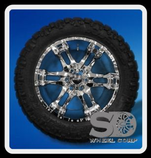 WIZARD W 295 55 20 NITTO TRAIL GRAPPLER TIRES CHROME WHEELS RIMS