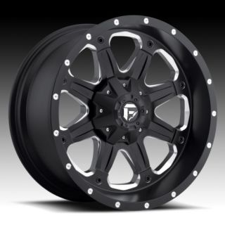 Boost XD 16 inch Black 16x8 0 Chevy Ford Truck Wheels Rims Set