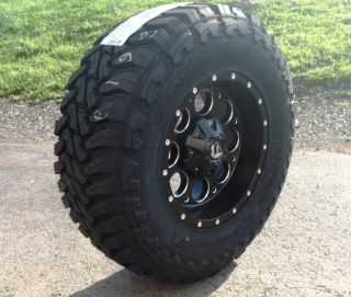 17 Fuel Revolver Black Wheels Jeep Wrangler JK 33 Toyo MT Tires