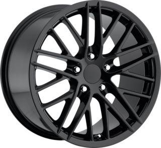 Corvette ZR1 C6 Gloss Black Wheels Rims for C5 or C6 18x8 5 19x10