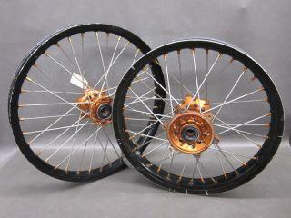 YZ250F YZ426F YZ450F Black Orange Front Rear Wheels Rims 99 11