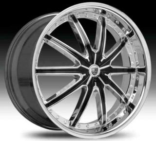 Black Chrome Wheel Set 22x7 5 LX20 Rims 5 Lug Vehicles Wheels