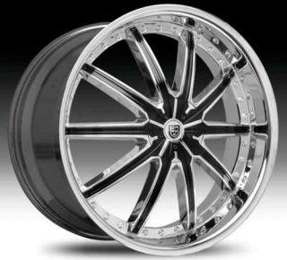 Black Chrome Wheel Set 22x7 5 LX20 Rims 5 Lug Vehicles Wheels
