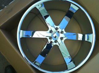 Toyota Tacoma Tundra Sequoia 24 Rims and Tires Chrome 295 35 24
