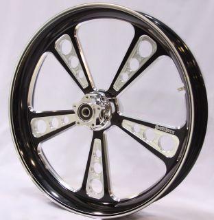 21 Black Contrast Wheel Rim FLH Harley Touring Bagger