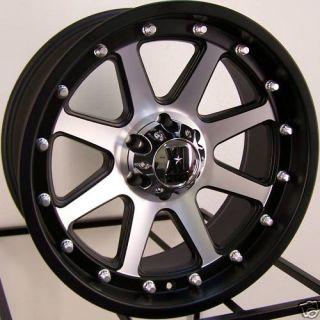 20 Black Machined KMC XD Addict Wheels Rims Lifted Dakota Durango RAM