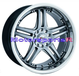 20 20x7 5 XXR 502 Chromium Black Wheels Rims 07 10 11 Toyota Camry