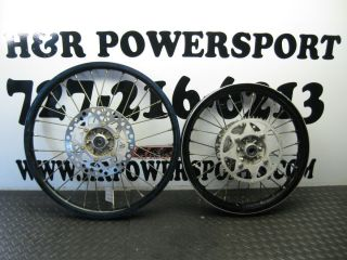 2011 Kawasaki KX100 Black Rims Wheels Hubs 16 Wheel 19 Wheel KX 100 11