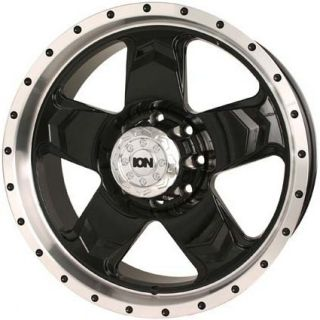 ION 177 ESCALADE YUKON SUBURBAN COLORADO BLACK MACHINED WHEELS RIMS