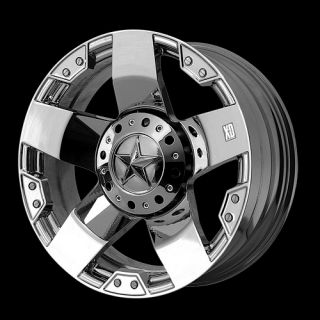 Chrome Rims with 33x12 50x20 Toyo Open Country MT Tires Wheels