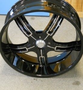 22 Effen 149 Black Wheels Rims Tires Pkg 6x135 SUV Truck Ford Chevy