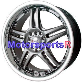 20 XXR 502 Chromium Black Rims Wheels 5x114 3 08 09 10 11 12 13 Scion