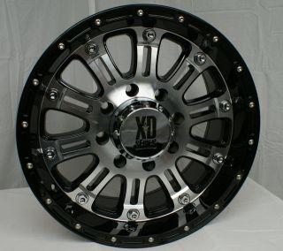 XD795 Hoss Black Machined 5 6 8 Lugs Wheels Rims Free Lugs