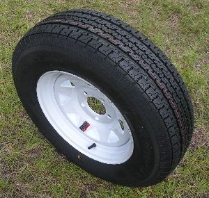 80D13 Load Range C 13 Tire Assembly White Rim 4 Lug 12984