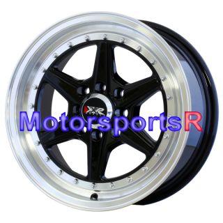 15 15x7 XXR 501 Black Rims Wheels 4x114 3 02 03 04 05 06 07 Mitsubishi
