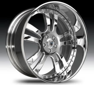 24 asanti AF142 Chrome Wheels Rims 2 Piece