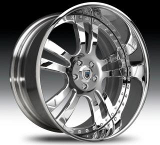 24 asanti AF142 Chrome Wheels Rims 2 Piece