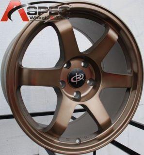 17x9 9 5 Rota Grid Wheels 5x114 3 Rims 25mm Bronze S14