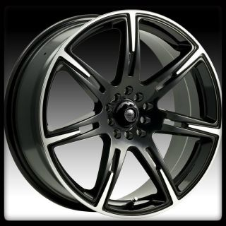 ICW RACING 210MB KAMIKAZE 5X100 5X4 5 CIVIC BLACK MACHINED WHEELS RIMS