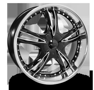 22 inch 6x132 6x127 Forte Black Nickel Wheels Rims 6 Lug Chevy