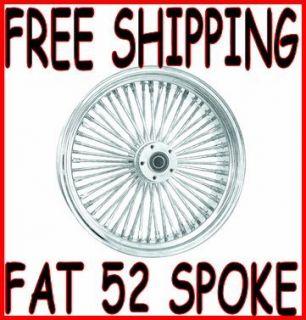 DNA Fat Daddy 52 Mammoth Spoke 21 x 3 5 Front Wheel Rim Harley Touring