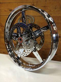 Glenndyne G2 21x3 5 Custom Harley Wheel Motorcycle Chrome Bagger Glide