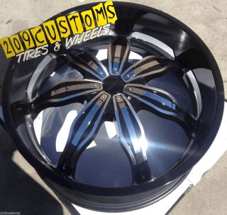 24 inch Rims Wheels Tires RW129 5x127 Chevy Caprice 1972 1973 1974