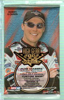 SEVEN 2002 WHEELS HIGH GEAR NASCAR RACING CARDS UNOPENED SEALED HOBBY