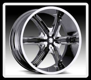 24 Milanni 460 Belair 6 5x150 Tundra LX470 LX570 Chrome Wheels Rims