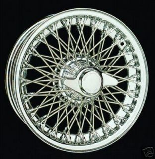 Austin Healey 3000 Wire Wheels 15x5 Tubeless Chrome