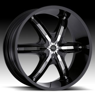 26 Millani Bell 6 Black Wheels Dodge RAM 1500 Durango