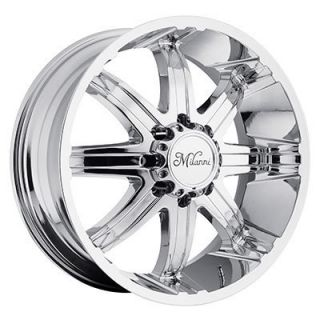 24 Wheels Rims Milanni Kool Whip 8 Chrome F250 F350 Super Duty 2005