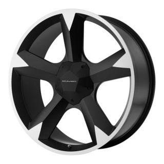 24 x 9 5 KMC 674 Clone Black Tahoe Express Suburban Wheels Rims