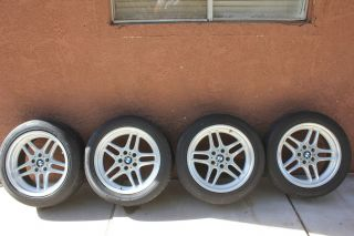 oe BMW M parallel wheels rims w tires 18 staggered e38 e23 e24 e28 e32