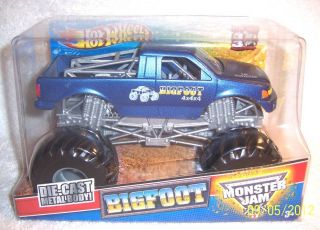 HOT WHEELS CUSTOM MONSTER JAM 1 24 ORIGINAL BIGFOOT 4X4X4 METALLIC