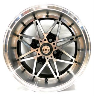 Axis OG Oldschool Black Machined Face Wheel Rim s 4x100 25 4pcs