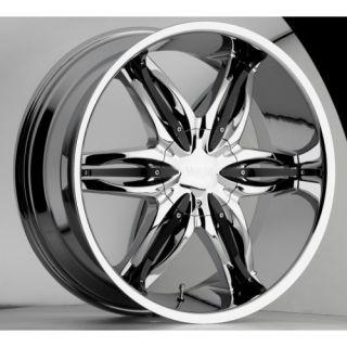 28 inch Viscera 778 Chrome Wheels Rims 5x5 5 5x139 7 25 Dodge RAM 1500