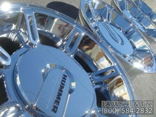 New 17 Hummer H2 OEM Factory Chrome Wheels Rims Suburban EXCHANGE 6300
