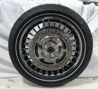 Harley Davidson Touring 28 Spoke Chrome Wheels Tires Stock Take Offs