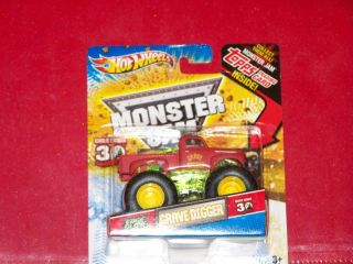 2012 HOT WHEELS MONSTER JAM GRAVE DIGGER EDGE GLOW 30th ANNIVERSARY