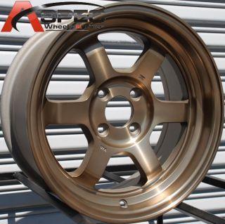 15x7 Rota Grid V Wheels 4x100 Rim ET20MM Fits BMW 2002 E30 Miata