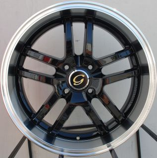 Wheel 5x100 38 Black Machine Rim Fits Celica Corolla Matrix