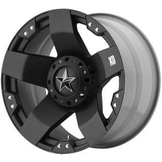 XD ROCKSTAR 5X4 75 RIDGELINE S10 PICKUP BLACK WHEELS RIMS FREE LUGS