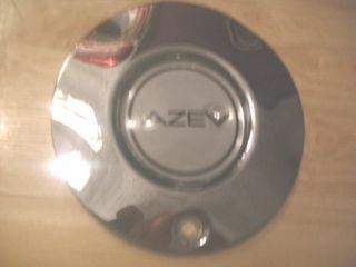 Used Azev Chrome Metal 6 9 32 Rim Wheel Center Cap Hub Cover Qty X1